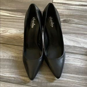 Charles by Charles David black leather pumps 8